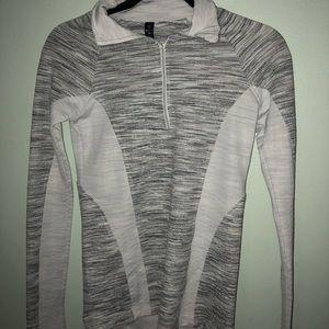 half zip up running sweater